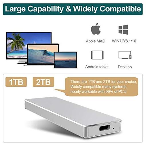 DOJGT Cajas para Disco Duro, USB 3.0 Premium Aluminio 2.5 para Disco Duro Externo 2