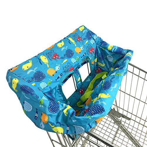 Funda portátil para carrito de la compra para bebés y niños pequeños-Funda para silla alta para bebés-Cojín para asiento para silla de comedor infantil Funda para carrito de la compra portátil Paquete