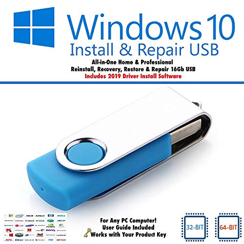 Windows 10 USB-Booting-Tool – Fix Reinstall Recovery Repair Install Boot PC 32 & 64 Bit Pro & Home mit 2019 Treiberinstallation