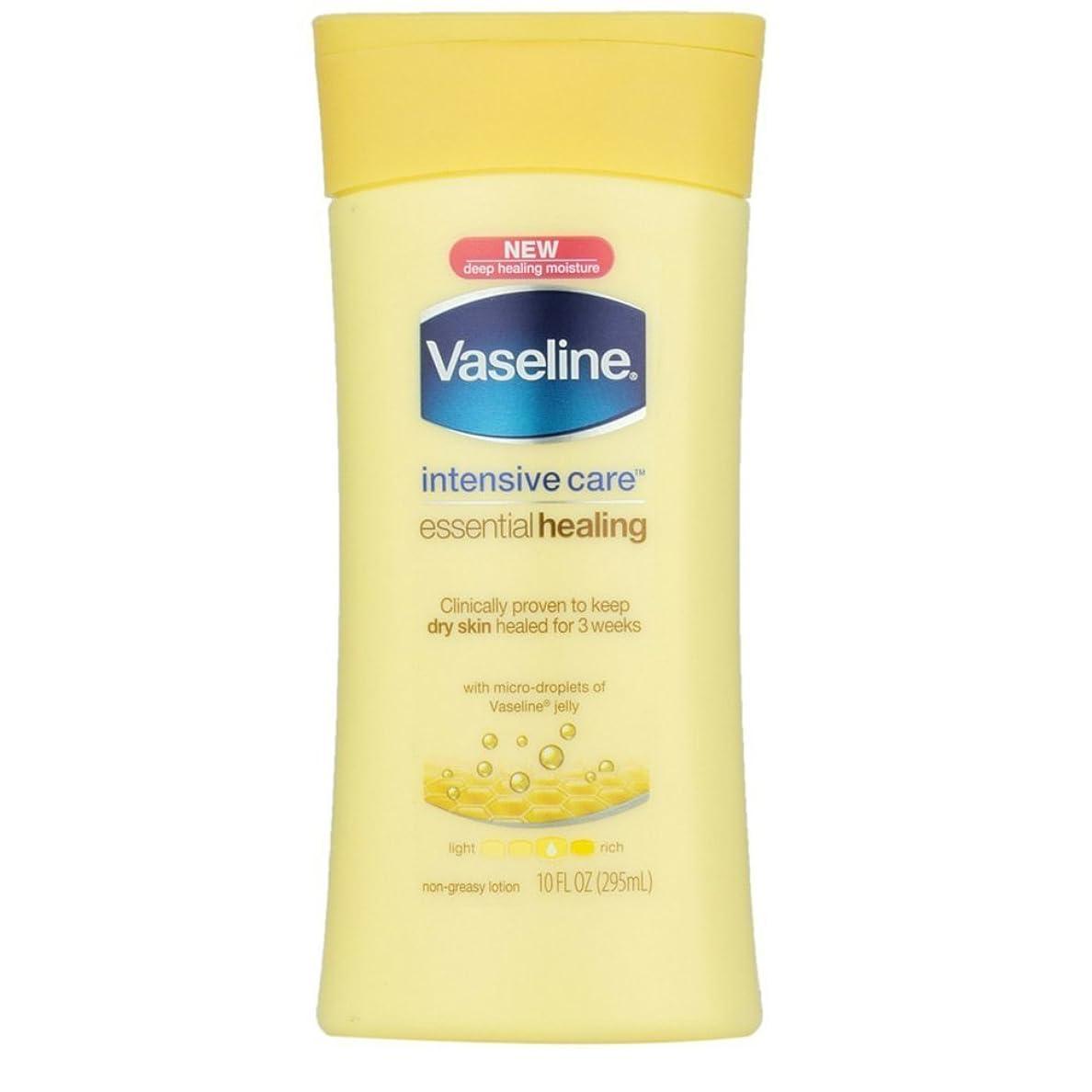 眠り彫る嘆願Vaseline Intensive Care Essential Healingローション10?oz (Pack of 4?) WLM