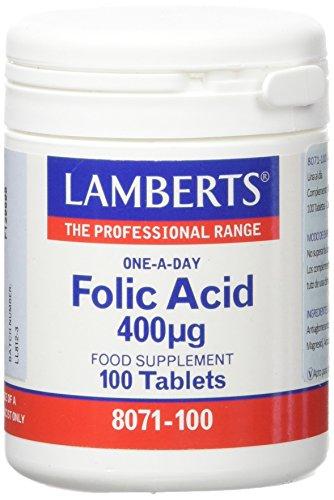 Lamberts Acido Folico 400Ug - 100 Tabletas