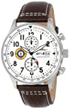 AVI-8 Men's AV-4011-01 'Hawker Hurricane' Stainless Steel Watch with Leather Band
