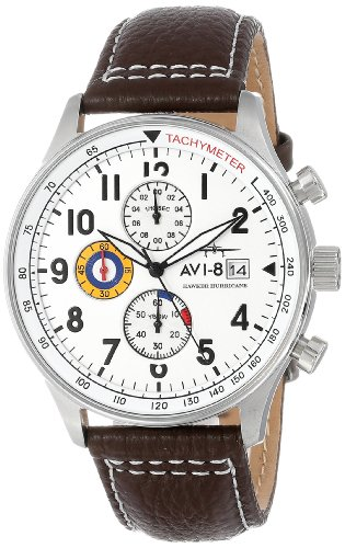 AVI-8 Men's AV-4011-01 'Hawker Hurricane' Stainless Steel...