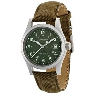 Hamilton Khaki Field Officer Handwinding – Reloj (Reloj de Pulsera, Masculino, Acero Inoxidable, Acero Inoxidable, Lienzo, Verde)