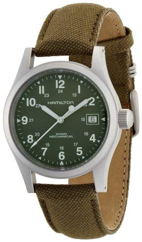 Hamilton Herren Analog Quarz Uhr mit Stoff Armband H69419363