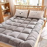 Huan estilo japonés piso Colchón Colchón de cama 90 x 200 cm Gris