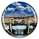 Weekino Italia Florencia Puente Arquitectura Imán de Nevera 3D de Cristal de la Ciudad de Viaje Recuerdo Colección de Regalo Fuerte Etiqueta Engomada refrigerador