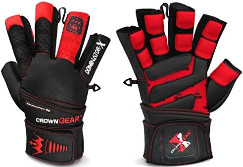 Crown Gear Weightlifting Gloves for Gym Fitness Crossfit Bodybuilding Workout Weight Lifting product image