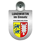Einsatzschild Windschutzscheibe incl. Saugnapf - Landwirtin im Einsatz - 309738- Regionen nach Wahl Farbe Region Schleswig-Holstein