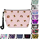 FancyPrint Pink Cute Beagle Dogs Printed Cosmetic Makeup Bag Adorable Roomy Travel Waterproof Toiletry Kit Case Accessories Organizer Pouch Gifts Pencil Bag