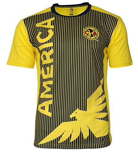 Club America Soccer Jersey Mexico FMF Adult Training Aguilas del America (Yellow, m)