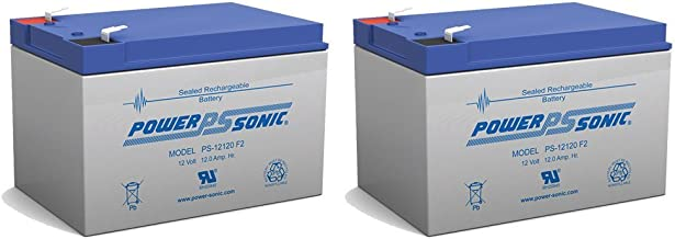 BATTERY REPLACEMENT for POWER-SONIC PS-12120F2 PS-12120 F2,12V 12AH EA. - 2 Pack