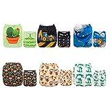 Alva baby cada paquete tiene 6pcs pañal y 2 inserciones ajustado pañal de tela (color para niñas 4) 6DM09-ES