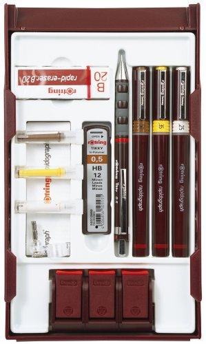 rOtring 699530 Rapidograph-College-Set mit Stifthalterung