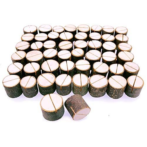 JZK 50 x Soportes tocón madera decoración número de mesa sostenedor foto...