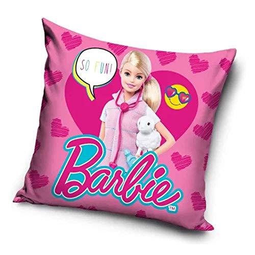 Le fantasie di casa Federa Copri Cuscino Barbie so Fun 40 x 40 in Poliestere con Stampa Originale Mattel.