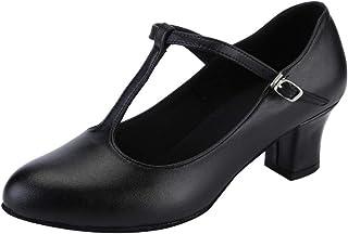 YKXLM Scarpe di Carattere Moderno per Le Donne Scarpe da Ballo Standard Moderna Scarpe da Carattere Danza Scarpe,Modello K...