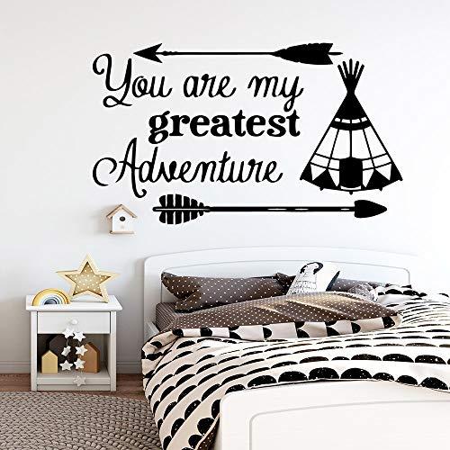 yaonuli Du bist Mein grootste avontuur vinyl wandsticker decoratie sticker waterdicht wandsticker kamerdecoratie