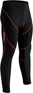 ZITY Mens Cycle Tights Bicycle Bike Padded Pants Breath Cool Outdoor Sports Reflective Leggings