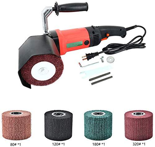 Kacsoo Wire Drawing Wheel Fleece Polierscheibe 4tlg, Polierscheibe Polieren 80# 120# 180# 320# Geeignet für Poliermaschine/Polierer/Schleifer