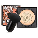 Boobeen - Cojín de aire de cabeza de hongo de base - Base de maquillaje CC Cream Corrector natural Maquillaje desnudo duradero - Pigmento iluminador BB Cream Foundation Uniforme de tono de piel