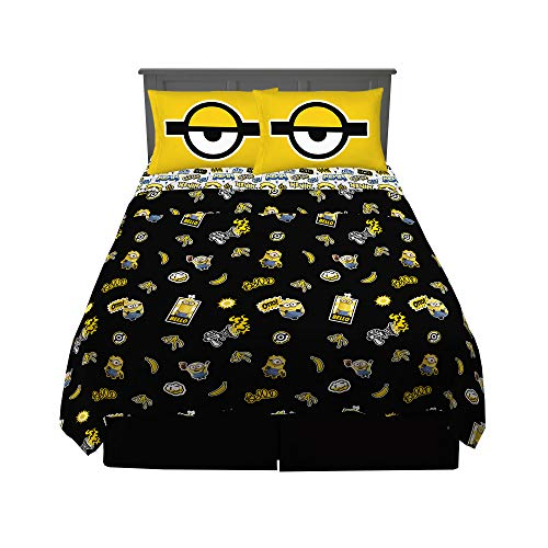 Franco Kids Bedding Super Soft Sheet Set, 4 Piece Full Size, Despicable Me Minions