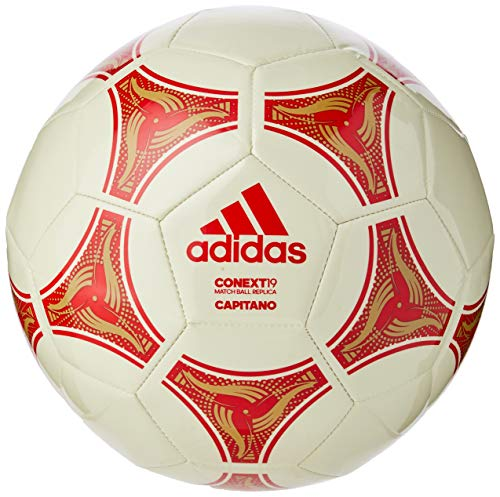 Adidas Conext 19 Capitano Ball Balón de Fútbol, Unisex, Blanco (Raw White/Active Red/Raw Sand), 5