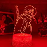 3D LED Lamps Lava lampeez Table Desk Optical Illusion 3D Lamp Anime Naruto Uchiha Itachi Light for Bedroom Decor Child Kid Birthday Gift Sasuke Lamp Naruto Light SGKL