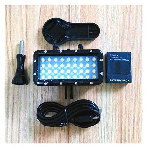 Nuevo Buceo Impermeable led led stents stents Titular para Gopro Hero 5 9 7 8 Xiaomi Yi 4K MIJIA SJCAM SJ6 SJ8 / 9 para EKEN H9R Cámara (Colour Light)