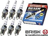 LPG-Store Brisk Silver DR15YS 1334 Zündkerzen LPG CNG Autogas, 6 Stück