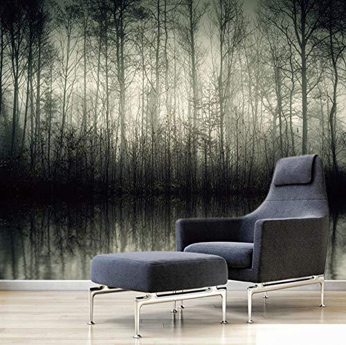 Muurschildering 3D Badkamer Grijs Lake Forest, 150X100Cm Grote Poster Woonkamer Slaapkamer Tv Achtergrond Wanddecoratie 150x100cm