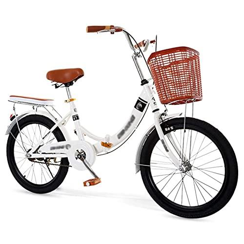 QWASZ Faltrad 20 Zoll Klapprad 6 Gänge Variable Geschwindigkeit Faltbares Herren-Fahrrad & Frauen-Fahrrad, geeignet ab 160 cm - 180 cm