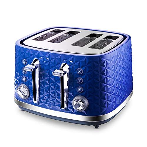 NAFE Tostadora 4 rebanadas Azul Tostadora Cuatro rebanadas Tostadora Azul Tostadora Mini tostadora