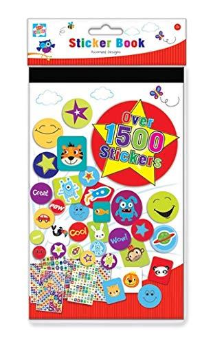 Anker Stickerbuch für Kinder zum Basteln, Kunststoff, 1500 Stück