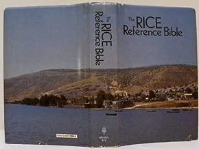 Holy Bible: Rice Reference Bible, King James Version
