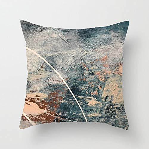 PPMP Pintura Abstracta a Mano, Funda de Almohada, Funda de Almohada geométrica, sofá de casa, Funda de Almohada Decorativa, Funda de cojín A18 45x45cm 2pcs