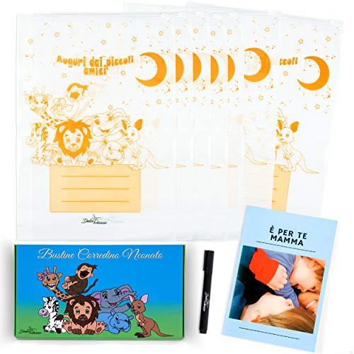 Dulce Precioso® - 7 bolsitas para bebé con rotulador + bolsas de cierre hermético transparentes para primeros cambios y guardería, 35 x 25 cm