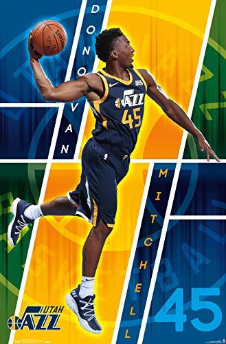 "Trends International POD16622 Utah Jazz - Donovan Mitchell Wall Poster, 22.375"" X 34"", Multi"