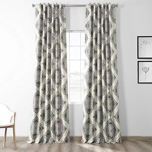 HPD Half Price Drapes BOCH-KC27B-108 Blackout Room Darkening Curtain (1 Panel), 50 X 108, Henna Black
