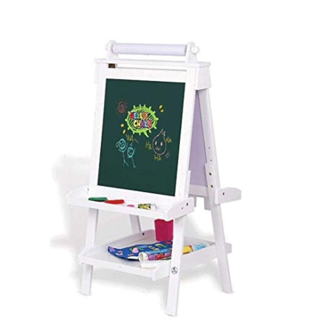 道を作るクリームアンテナイーゼルスタンド-アート 子供のイーゼル-両面磁気描画とライティングボードソリッドウッドリフターブルイーゼルダブル黒板 デスクトップ/床/図面およびディスプレイ用 YUAN MA (Color : A, Size : 640mm*1370mm)