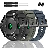 ZEROFIRE Bands Compatible with Garmin Fenix 5 and Fenix 5 Plus Watch Strap Replacement Silicone Band for Forerunner 935, 945, Approach S60, Quatix 5 Smartwatch, Not Fit 5X, 5S