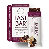 Fast Bar, Nuts & Dark Cocoa, Gluten Free, Plant Based Protein Bar for Weight Management & Intermittent Fasting (5 Count Box)