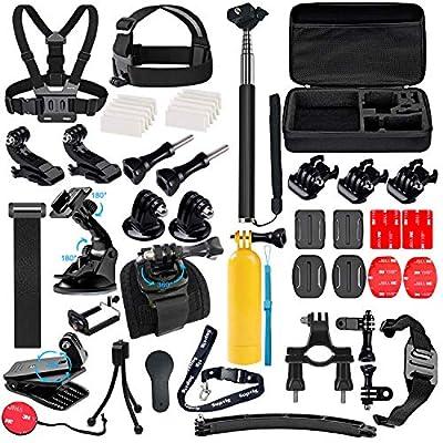 Suptig Accessories Kit Compatible for Gopro Hero 9 Hero 8 Hero 7/6/5/4/3/3+/2/1/Session and Sj Camera AKASO Dragon Campark Yi Xiaomi Action Camera Accessories Kit by Suptig