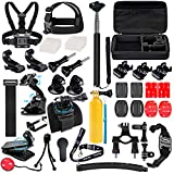 Suptig Accessories Kit Compatible for Gopro Hero 9 Hero 8 Hero 7/6/5/4/3/3+/2/1/Session and Sj Camera AKASO Dragon Campark Yi Xiaomi Action Camera Accessories Kit