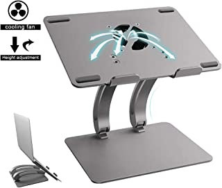 Laptop Stand, Ergonomic Lifting Nootbook Stand, with Fan, Strong Heat Dissipation Capacity, Suitable for Office/Home Offic...