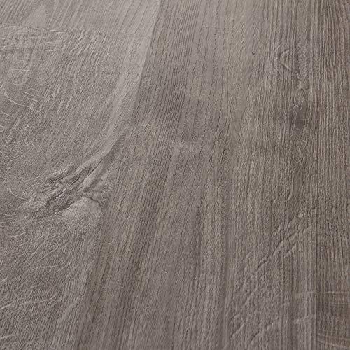 neu.holz Vinyl Laminat ca. 4 m² 'Slashed Oak' Bodenbelag Selbstklebend rutschfest 28 Dekor-Dielen für Fußbodenheizung