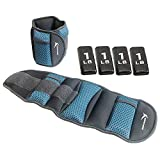 Empower Ankle & Wrist Weights for Women for Exercise, Running, Jogging, Walking, Toning, Resistance Training, Physical Therapy, 3-in-1 Adjustable Weight from 4-8lbs (8lb Set/Two 4lb Weights), Sky
