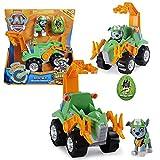 PAW PATROL Dino Rescue Vehículos | con Rev-Up, Dino Figura y Personajes, Figura:Rocky