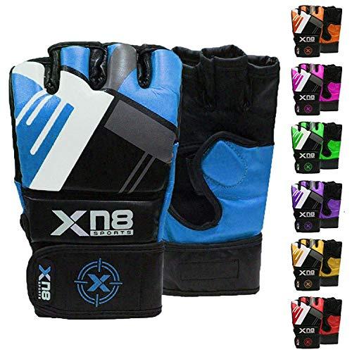 XN8 MMA Guanti per Grappling Arti Marziali Allenamento, Sparring Fingerless per Allenamento, Kickboxing, Muay Thai