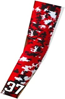 Baseball Basketball Compression Arm Sleeve with Jersey Number